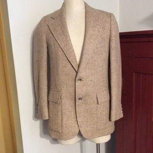 Harris Tweed Herringbone Vintage Sport Coat Jacket